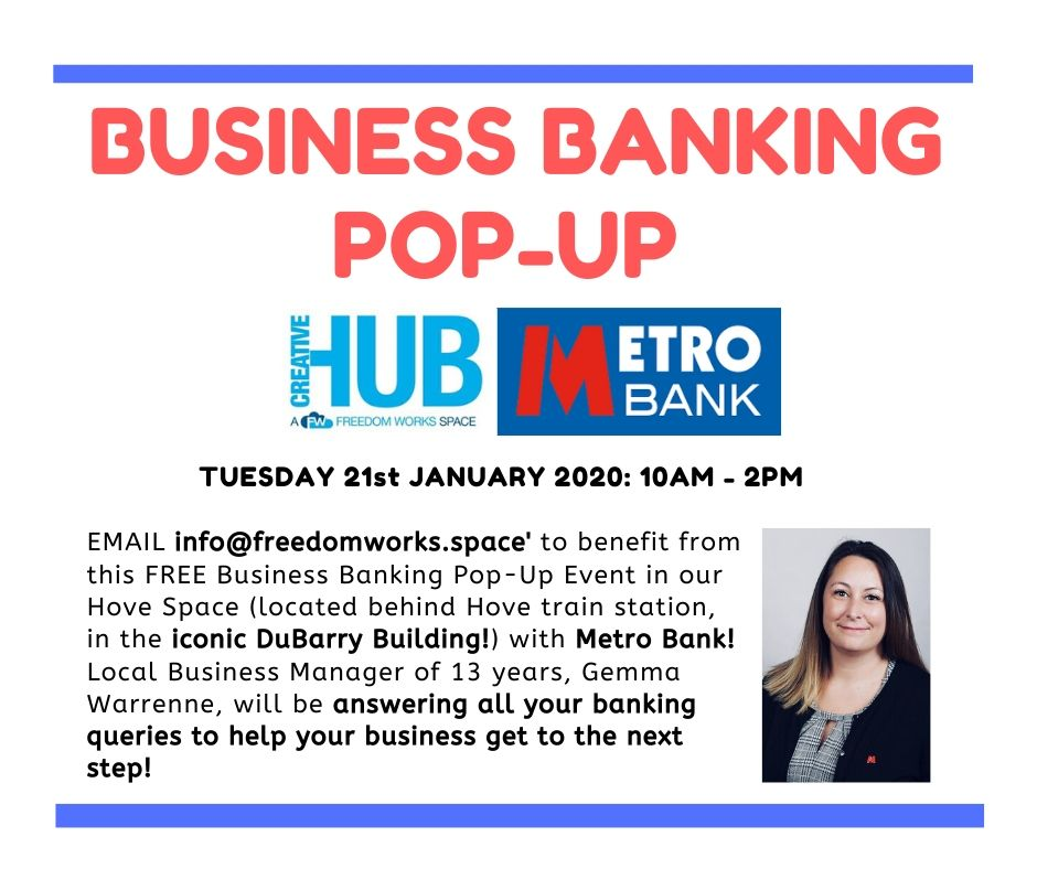 FW HOVE - Business Banking Pop Up