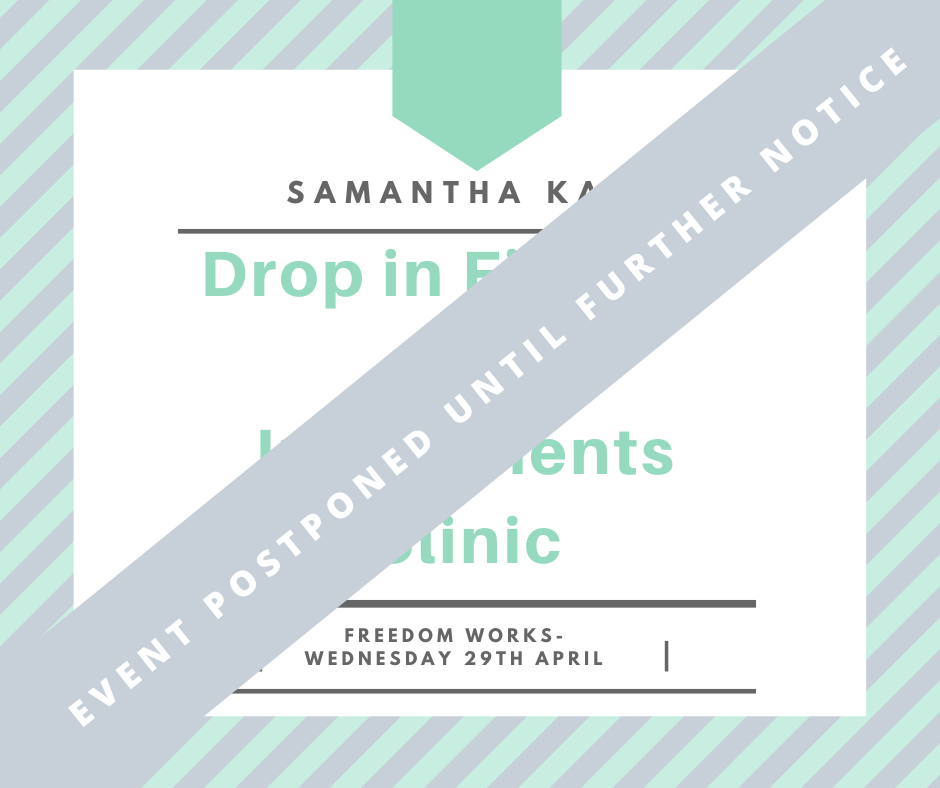 Drop in Finance and Investment Clinic - With Samantha Kaye