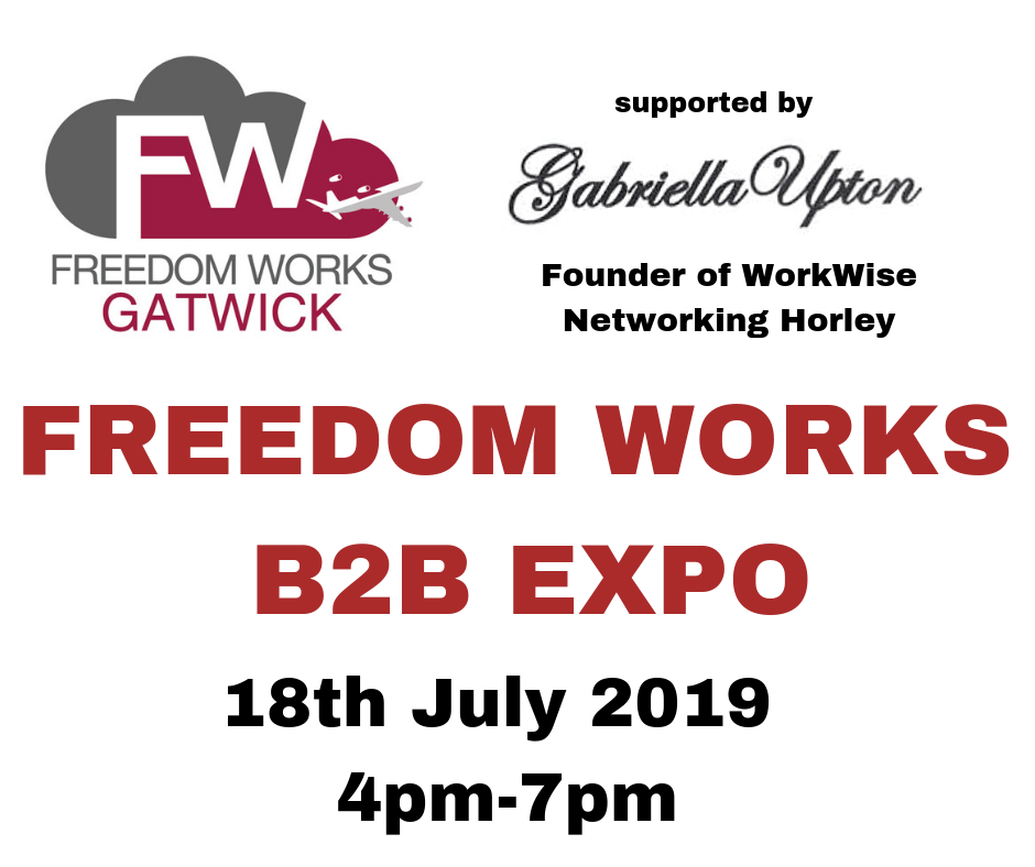 Freedom Works Gatwick B2B Expo Event
