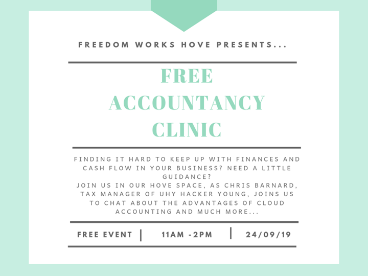 FREE ACCOUNTANCY CLINIC IN FREEDOM WORKS HOVE